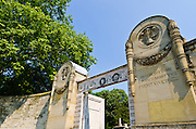 Gates at the main entrance, Père Lachaise Cemetery, Paris, France