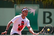Roland Garros. Paris, France. May 27th 2012.Spanish player Rafael NADAL during training session...