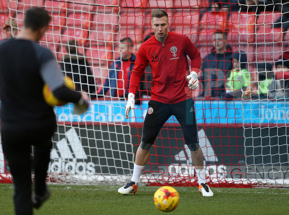 Simon Moore of Sheffield Utd during the English League One match at Bramall Lane Stadium, Sheffield. Picture date: December 26th, 2016. Pic Simon Bellis/Sportimage