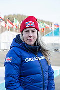 Freeskier Katie Summerhayes, Great Britain, at the Pyeongchang athlete village on February 16th 2018 in Pyeongchang-gun, South Korea.