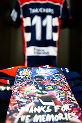 David Lemi's shirt features on the matchday programme of departing players before his 140th and last appearance for the club - Rogan/JMP - 13/04/2018 - RUGBY UNION - Ashton Gate Stadium - Bristol, England - Bristol Rugby v Doncaster Knights - Greene King IPA Championship.