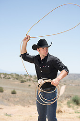 cowboy on a ranch roping