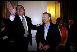 Deputy Prime Minister John Prescott and the Prime Minister Tony Blair during an function at 10 Downing street PRESS ASSOCIATION Photo. Picture date:Monday 22nd January  , 2007. Photo credit should read: Andrew Parsons/PA. POOL