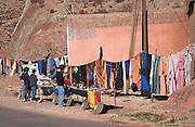 Souvenir stall for tourists, Dades valley, Morocco