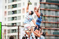 Wenceslas LAURET / Ben MOWEN  - 11.04.2015 - Racing Metro / Montpellier  - 22eme journee de Top 14 <br />Photo : Dave Winter / Icon Sport