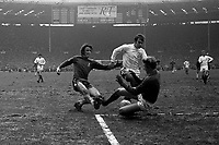 Ian Hutchison (Chelsea) shoots under pressure from Terry Cooper and Goalkeeper Gary Sprake (Leeds). Chelsea v Leeds United. FA Cup Final. Wembley 11/04/1970. <br /> <br /> Credit: Colorsport / Provincial Press