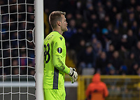 Football - 2019 / 2020 UEFA Europa League - Round of Thirty-Two, First Leg: Club Bruges vs. Manchester United<br /> <br /> Simon Mignolet (Club Brugge) organises his wall as he prepares to defend a free kick at Jan Breydel Stadium.<br /> <br /> COLORSPORT/DANIEL BEARHAM