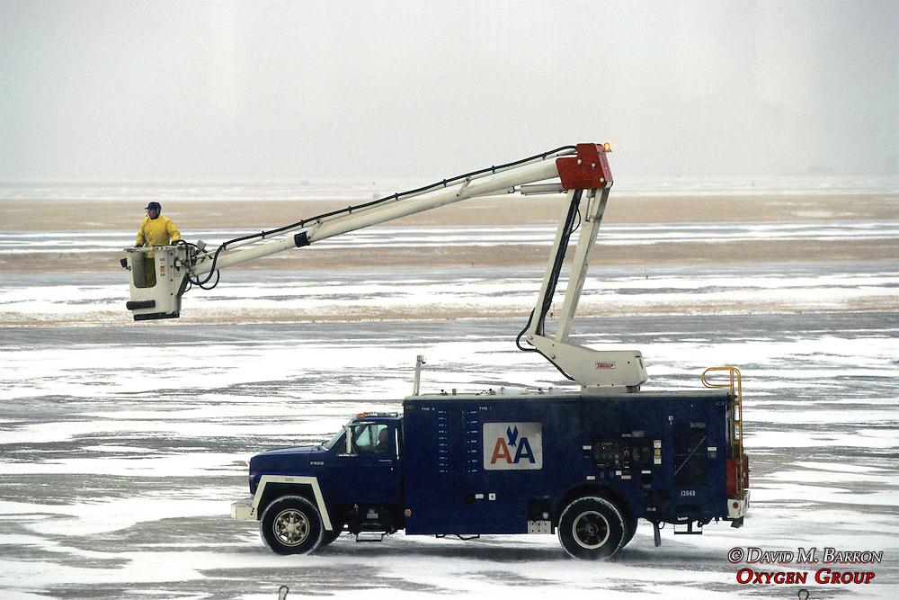 American Airlines Bucket Truck