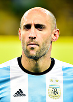 Conmebol - World Cup Fifa Russia 2018 Qualifier / <br /> Argentina National Team - Preview Set - <br /> Pablo Javier Zabaleta