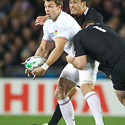 Vincent Clerc, France, in action during the New Zealand V France, Pool A match during the IRB Rugby World Cup tournament. Eden Park, Auckland, New Zealand, 24th September 2011. Photo Tim Clayton...