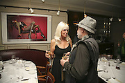 Lindsay Carlos-Clarke and Barry Lategan, Bob Carlos Clarke: Dark Genius - launch & memorial <br />at  Luciano, 72 St James's Street, London, SW1, Party at Sir Rocco Forte and Marco Pierre White's restaurant launching new permanent exhibition of pieces by the late Irish photographer, 13 November 2006. ONE TIME USE ONLY - DO NOT ARCHIVE  © Copyright Photograph by Dafydd Jones 66 Stockwell Park Rd. London SW9 0DA Tel 020 7733 0108 www.dafjones.com