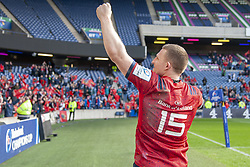 March 30, 2019 - Edinburgh, Scotland, United Kingdom - Andrew Conway of Munster celebrates during the Heineken Champions Cup Quarter Final match between Edinburgh Rugby and Munster Rugby at Murrayfield Stadium in Edinburgh, Scotland, United Kingdom on March 30, 2019  (Credit Image: © Andrew Surma/NurPhoto via ZUMA Press)