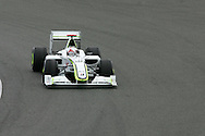 2009 Formula 1 Santander British Grand Prix at Silverstone in Northants, Great Britain. action from Friday practice on 19th June 2009. Jenson Button of Great Britain drives his Brawn GP car..  .