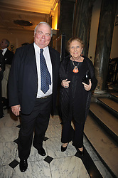 MR JAMES & DR SHIRLEY SHERWOOD, he is the founder and president of the Sea containers Group at the opening of the Royal Academy of Arts Byzantium 330-1453 exhibition held at the RA, Burlington House, Piccadilly, London on 21st October 2008.