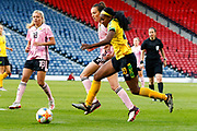 Jamaica's Cheyna MATTHEWS (Washington Spirit (USA)) during the International Friendly match between Scotland Women and Jamaica Women at Hampden Park, Glasgow, United Kingdom on 28 May 2019.