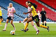 Jamaica's Cheyna MATTHEWS (Washington Spirit (USA)) during the International Friendly match between Scotland Women and Jamaica Women at Hampden Park, Glasgow, United Kingdom on 28 May 2019.