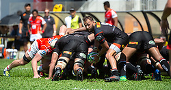 May 19, 2018 - Hong Kong, Hong Kong, China - Stormers scrum half Dewaldt Duvenage takes the ball from the scrumJapanese team Sunwolves win 26-23 over South Africa's Stormers in Rugby Super League's Hong Kong debut. Mong Kok Stadium, Hong Kong . Photo Jayne Russell (Credit Image: © Jayne Russell via ZUMA Wire)