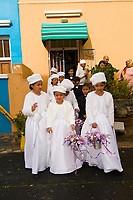 A Muslim wedding on Waalstraat in Bakaap section (Muslim Quarter), Cape Town, South Africa