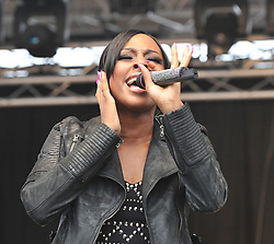 © Licensed to London News Pictures.16/06/2012. Stoke on Trent England . Alexandra Burk performing live at the Stoke 20 twelve live music festival   : Rob Leyland/LNP