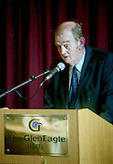 Maurice O'Donoghue at the opening of the INEC in 2000.<br /> Photo: Don MacMonagle <br /> e: info@macmonagle.com