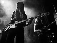 Ása Dýradóttir and Arnar Pétursson of Icelandic indie-rock band Mammút at Iceland Airwaves