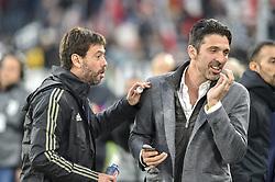 May 19, 2019 - Turin, Turin, Italy - Gianluigi Buffon, Andrea Agnelli of Juventus FC during the Serie A match at Allianz Stadium, Turin (Credit Image: © Antonio Polia/Pacific Press via ZUMA Wire)