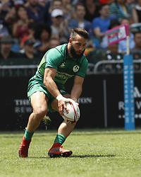 April 8, 2018 - Hong Kong, HONG KONG - Mark Roche (7) of Ireland shown against Japan during the 2018 Hong Kong Rugby Sevens at Hong Kong Stadium in Hong Kong. (Credit Image: © David McIntyre via ZUMA Wire)