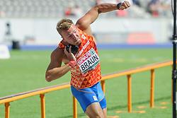 Pieter Braun 14,22m bij het EK atletiek in Berlijn op 7-8-2018