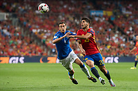 Spain's Marco Asensio and Italy's Matteo Darmian during match between Spain and Italy to clasification to World Cup 2018 at Santiago Bernabeu Stadium in Madrid, Spain September 02, 2017. (ALTERPHOTOS/Borja B.Hojas)