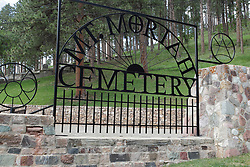Mt. Moriah Cemetery in South Dakota is the final resting place of many people and characters of the American old west including Wild Bill Hickok, Calamity Jane, Potato Jack and several other.  It sits high on the hill above the town of Deadwood South Dakota