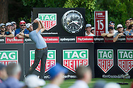 Geoff Ogilvy nails his tee shot on the 15th during the opening round of the Australian Open at The Australian Golf Club, Sydney (Photo: Anthony Powter)