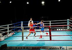 Jan Sekol of Slovenia (BLUE) fights against Suleiman Taher of Austria (RED) in Elite 75 kg Category<br />  during Dejan Zavec Boxing Gala event in Sentilj, on September 30, 2017 in Mond, Casino & Hotel, Sentilj, Slovenia. Photo by Vid Ponikvar / Sportida