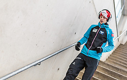 03.01.2016, Bergisel Schanze, Innsbruck, AUT, FIS Weltcup Ski Sprung, Vierschanzentournee, Probedurchgang, im Bild Michael Hayboeck (AUT) // Michael Hayboeck of Austria before his Trial Jump for the Four Hills Tournament of FIS Ski Jumping World Cup at the Bergisel Schanze, Innsbruck, Austria on 2016/01/03. EXPA Pictures © 2016, PhotoCredit: EXPA/ JFK