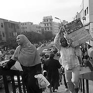 Egypt. Cairo : Al azhar street and expressway , Al Hussein mosque and al Azhar area in islamic Cairo