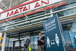 Edinburgh, Scotland, UK. 19 June, 2020. Several shops at Straiton Retail Park outside Edinburgh have opened. Signage warning customers to maintain 2m social distancing is positioned outside and inside shops. Pictured; Matalan shop is open. Iain Masterton/Alamy Live News