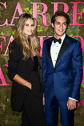 Flynn Busson and Elle Macpherson attend the Green Carpet Fashion Awards Gala during Milan Fashion Week Spring/Summer 2019 on September 23, 2018 in Milan, Italy. Photo by Marco Piovanotto/ABACAPRESS.COM