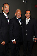 """15 November 2010- New York, NY- l to r: Bronx Borough President Ruben Diaz, Former Mayor David Dinkins and Nw York State Governor David Paterson at The National Action Network's 1st Annual Triumph Awards honoring """"Our Best"""" in the Arts, Entertainment, & Sports held at Jazz at Lincoln Center on November 15, 2010 in New York City. Photo Credit: Terrence Jennings"""