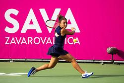 PORTOROZ, SLOVENIA - SEPTEMBER 16: Jasmine Paolini of Italy compete during the 3rd Round of WTA 250 Zavarovalnica Sava Portoroz at SRC Marina, on September 15, 2021 in Portoroz / Portorose, Slovenia. Photo by Matic Klansek Velej / Sportida