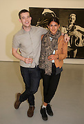 RUSSELL TOVEY; KAT BRAGANZA, David Salle private view at the Maureen Paley Gallery. 21 Herlad St. London. E2. <br /> <br />  , -DO NOT ARCHIVE-© Copyright Photograph by Dafydd Jones. 248 Clapham Rd. London SW9 0PZ. Tel 0207 820 0771. www.dafjones.com.