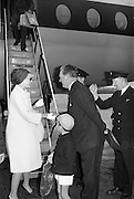 25/08/1963<br /> 08/25/1963<br /> 25 August 1963<br /> Royal Visit by Prince Rainier and Princess Grace of Monaco. The Royal family arrive at Dublin Airport. Princess Grace and Prince Albert are greeted by the aircraft at Dublin Airport.
