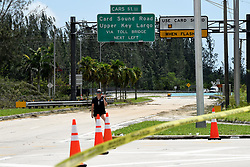 Traffic into the Florida Keys is blocked by police limiting entrance to only essencial personale on Monday, September 11, 2017 as Florida Keys residents wait in frustration, several since 6 a.m., to go back to their homes after Hurricane Irma came through the archipelago islands. Photo by Taimy Alvarez/Sun Sentinel/TNS/ABACAPRESS.COM