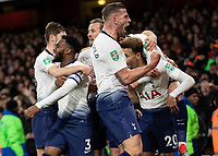 Football - 2018 / 2019 EFL Carabao Cup (League Cup) - Quarter-Final: Arsenal vs. Tottenham Hotspur<br /> <br /> Tottenham players celebrate after scoring their second goal at The Emirates.<br /> <br /> COLORSPORT/DANIEL BEARHAM