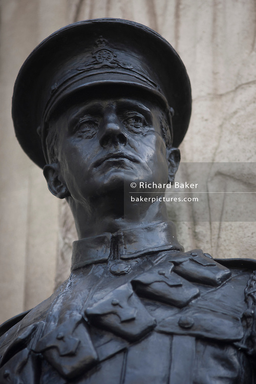 War memorial hero in Cornhill, City of London remembering those killed in the First World War.