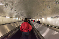 Interchange between the subway system and the RER B at Chatelet-Les Halles in the heart of Paris.