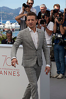 Actor Jeremy Renner<br /> at the Wind River film photo call at the 70th Cannes Film Festival Saturday 20th May 2017, Cannes, France. Photo credit: Doreen Kennedy