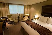 Luxury room in hotel chain, Sofitel at Heathrow's terminal 5.