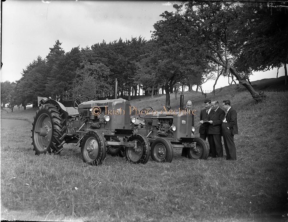 14/09/1957.09/14/1957.14 September 1957.Nuffield tractors at Booth Poole, Islandbridge.