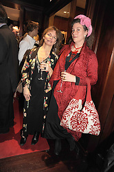 Left to right, CAROLINE HART and ANNABEL FREYBERG at a party to celebrate the publication of Catherine Blyth's book 'The Art of Conversation' held at Ralp Lauren, Bond Street, London on 4th November 2008.