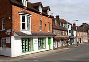 Historic red brick building Brearley Rich estate agents, Marlborough, Wiltshire, England, UK