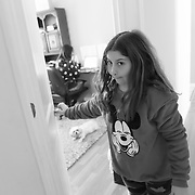 Brooklyn during Music class where they listened to a One Direction song, learned a dance and then wrote music notes. She attends school virtually from her bedroom.